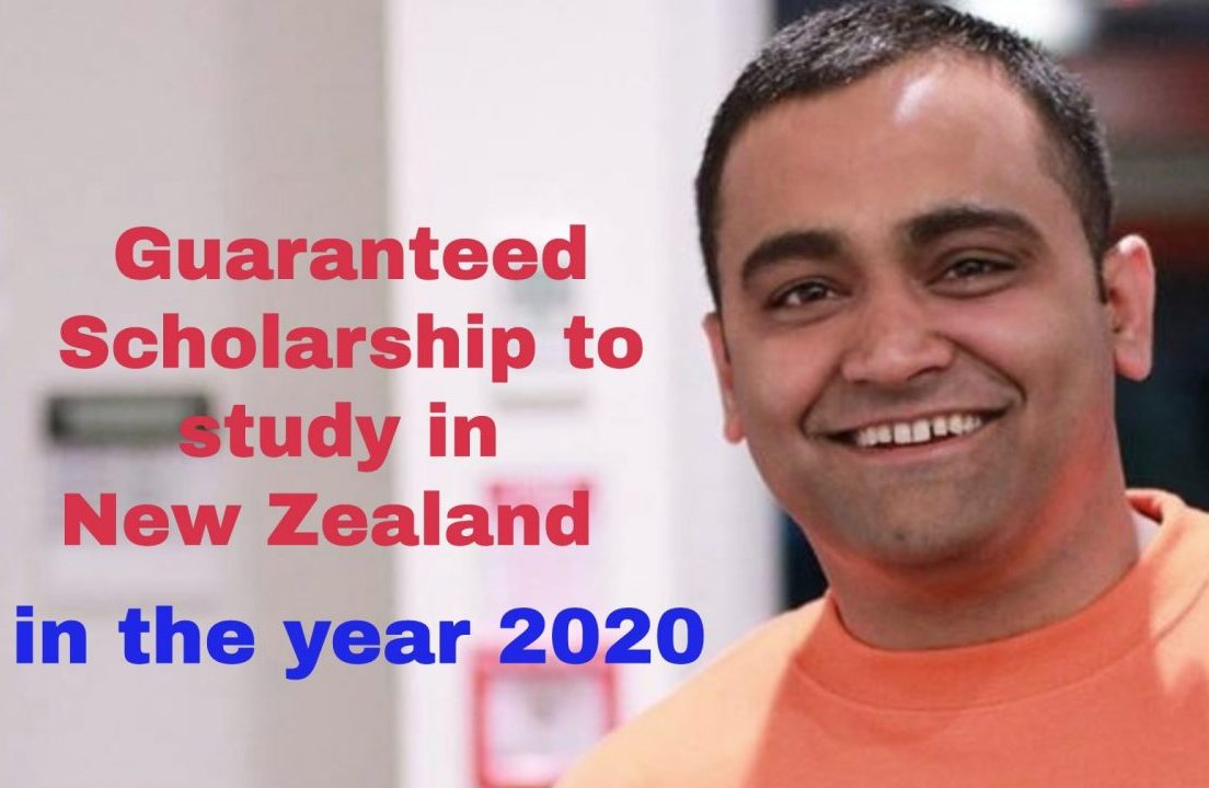 Guaranteed partial scholarship in New Zealand for year 2020